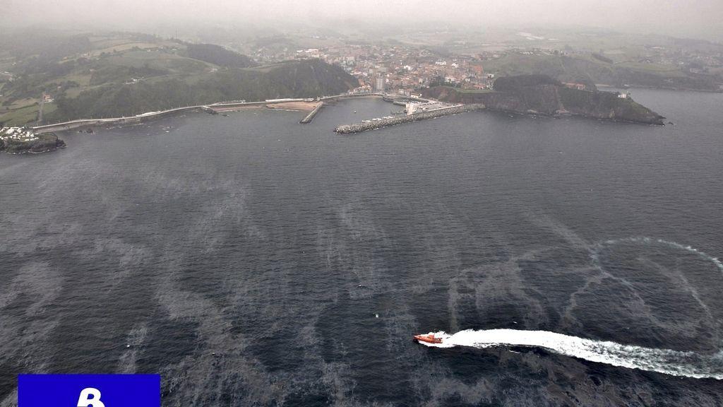 vertido de fuel en las playas asturianas