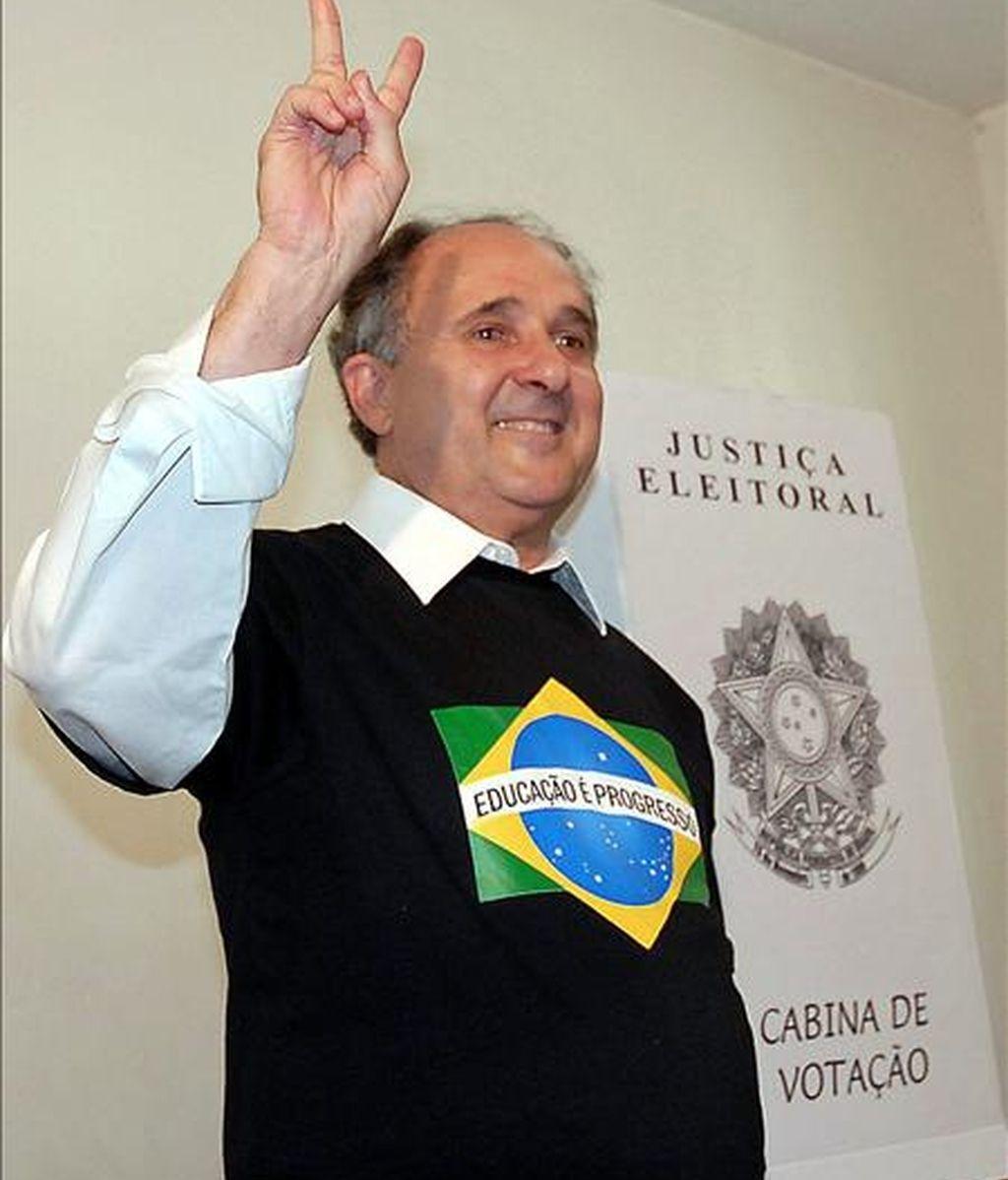 El asunto ha llegado a la Cámara Alta, donde el senador y ex ministro de Educación Cristovam Buarque (en la imagen), del Partido Democrático Laborista (PDT, sigla en portugués), ha organizado ya un debate sobre la propuesta. EFE/Archivo