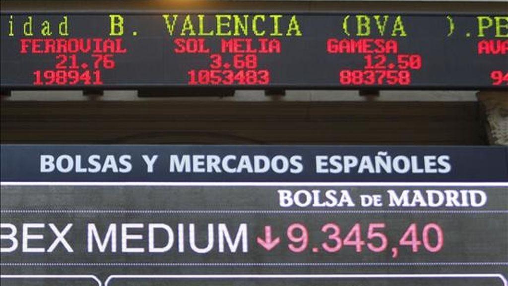 En la imagen, la Bolsa de Madrid. EFE/Archivo