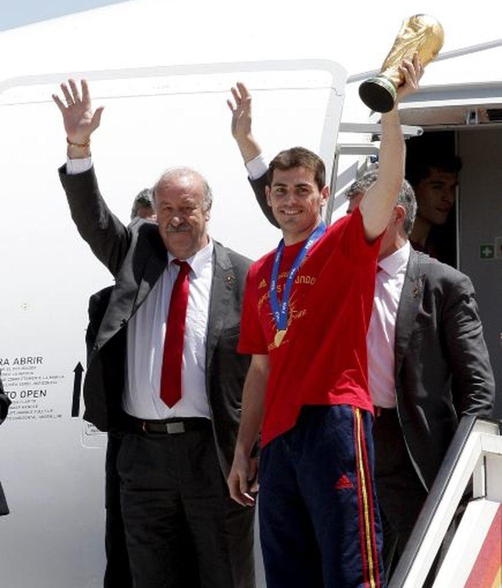 Los campeones llegan a casa