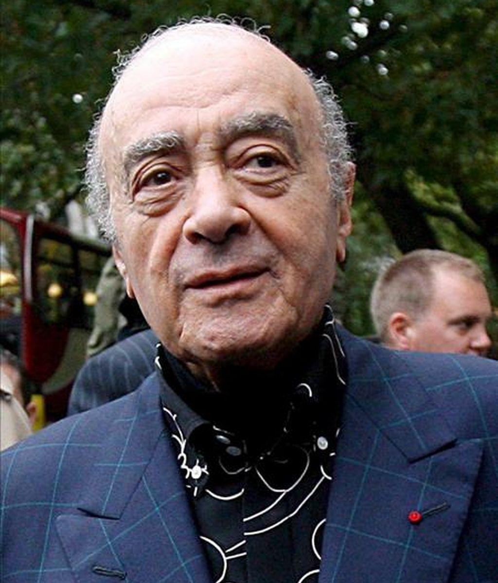 """El dueño de los grandes almacenes """"Harrods"""", Mohamed Al Fayed. EFE/Archivo"""