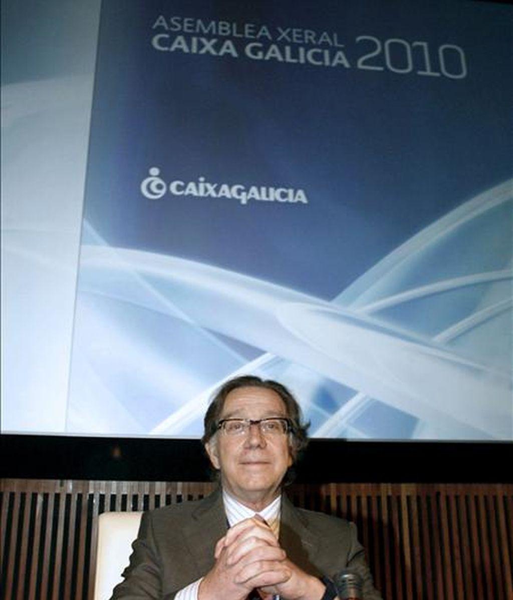 El director general de Caixa Galicia, Xosé Luis Méndez. EFE/Archivo
