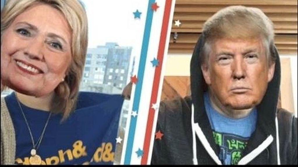Twitter lanza máscaras de Clinton y Trump en los vídeos de Periscope