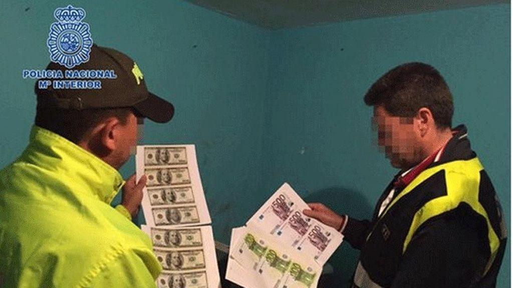 La Policía desmantela en Colombia una imprenta que producía millones de euros, dólares y pesos falsos