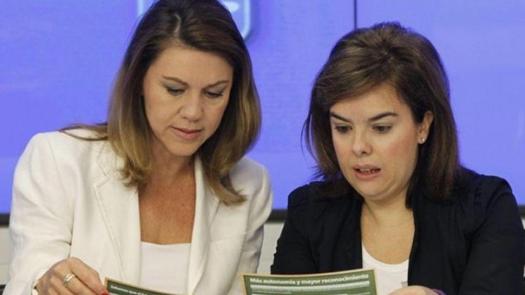 María Doles de Cospedal y Soraya Sáez de Santamaría