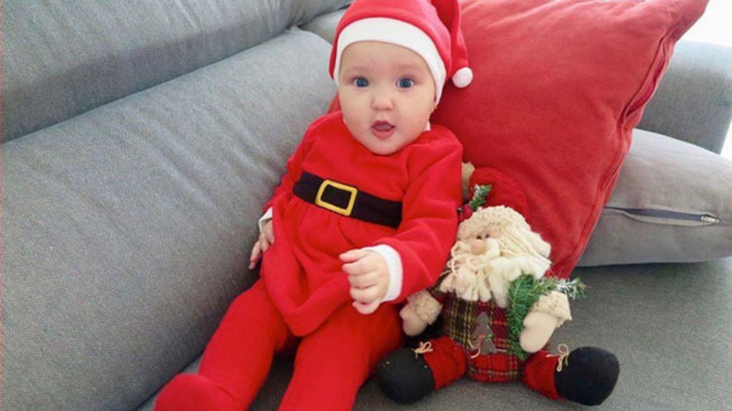 Matilda Suárez Costa estuvo bien preparada para su primera Navidad