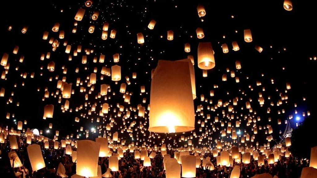 Lámparas flotantes