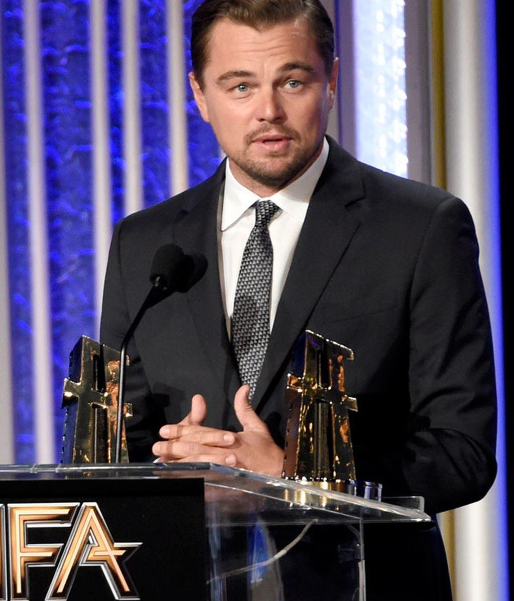 Leonardo Dicaprio recogió el premio al mejor documental por 'Before the blood'