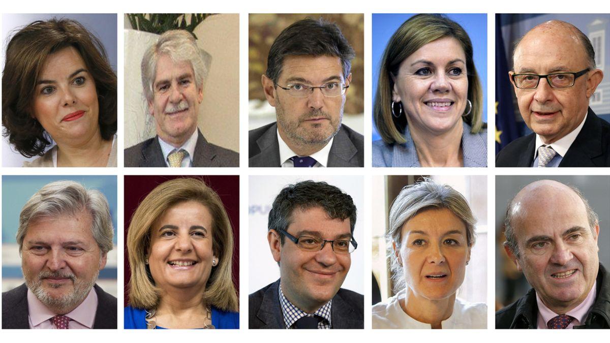 Rajoy y sus nuevos ministros