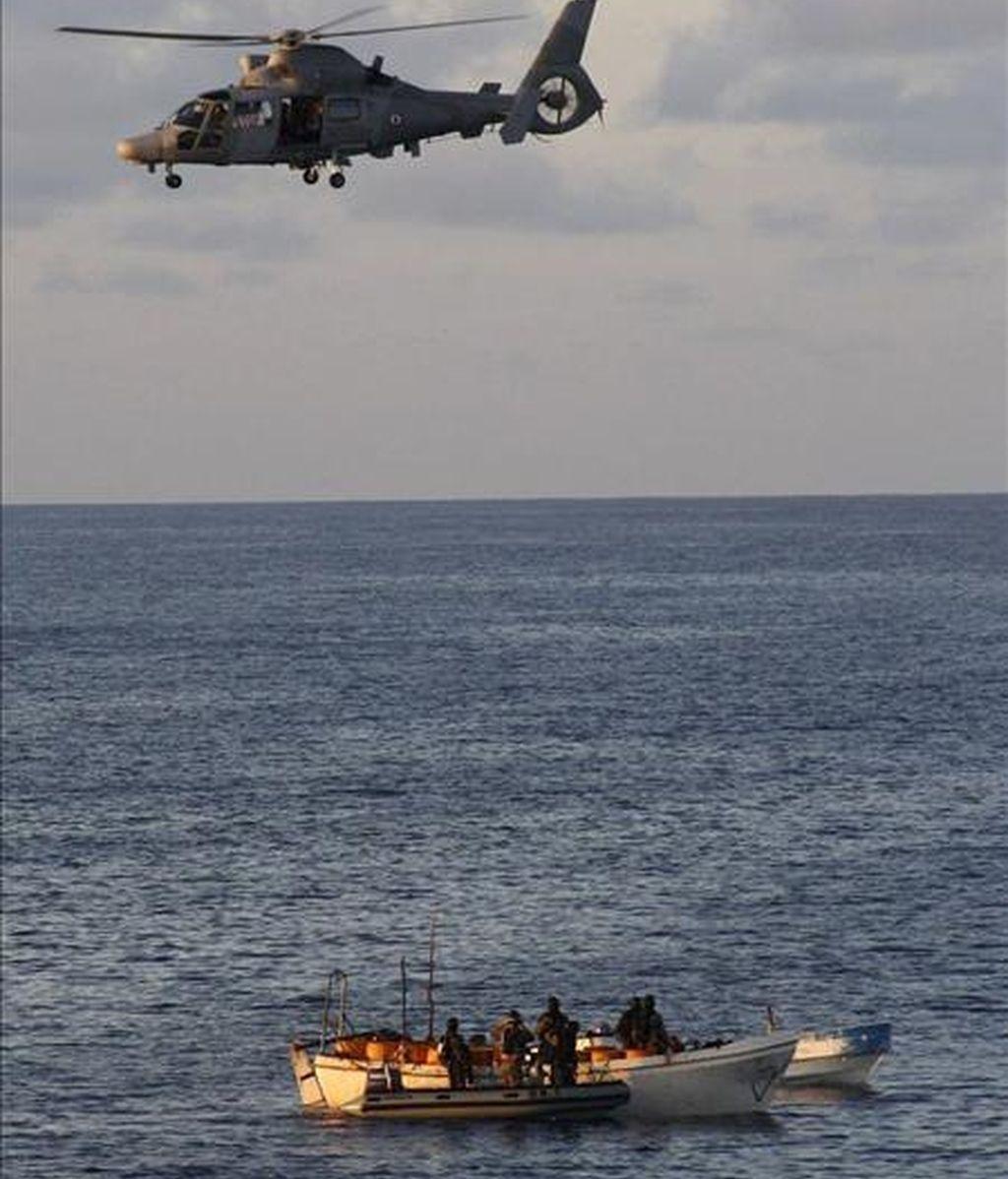 """Fuerzas navales de la operación """"Atalanta"""", desplegadas en la zona para evitar la piratería. EFE/Archivo"""