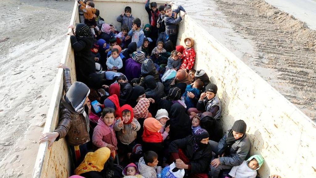 El pueblo iraquí huye del Estado Islámico