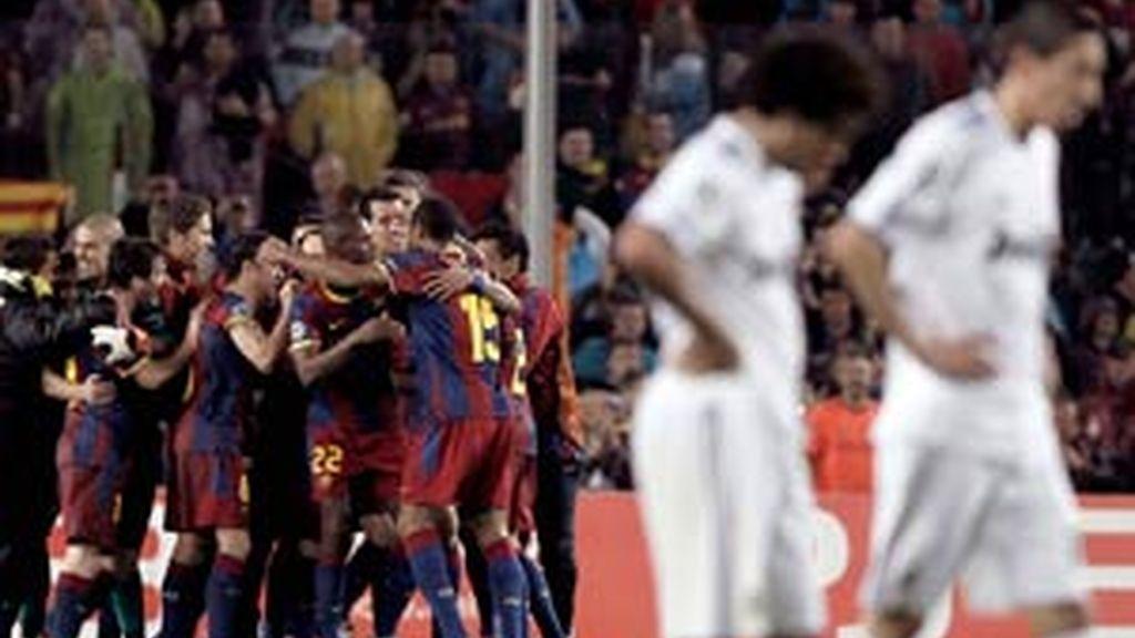 El Madrid que no llegó a inquietar a los blaugrana. Foto: EFE