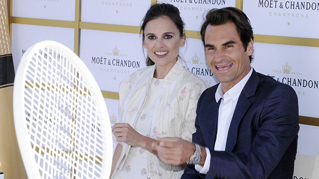 Elena Anaya y Roger Federer, una sorprendente pareja deportiva