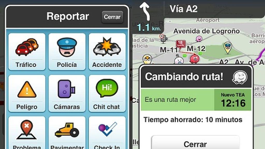 Waze es un GPS muy interactivo