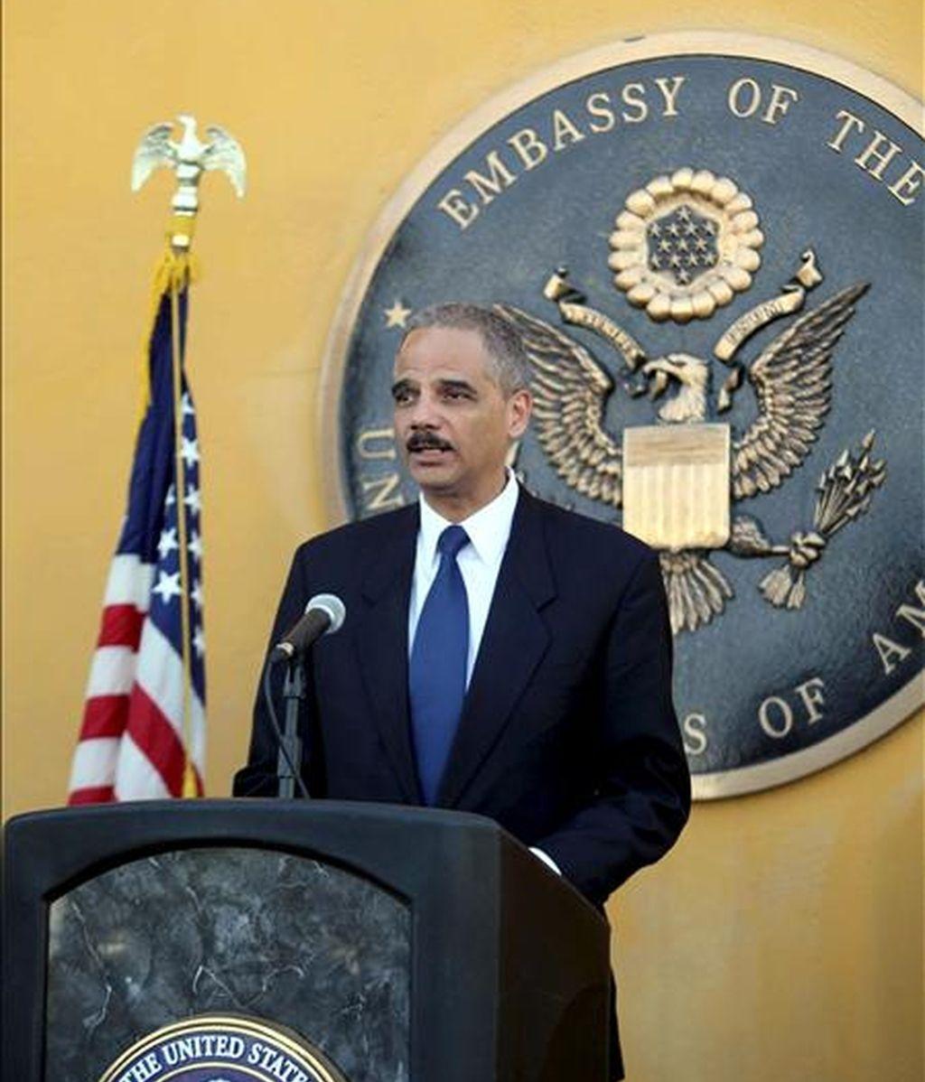En la imagen el fiscal general de EEUU, Eric Holder. EFE/Archivo