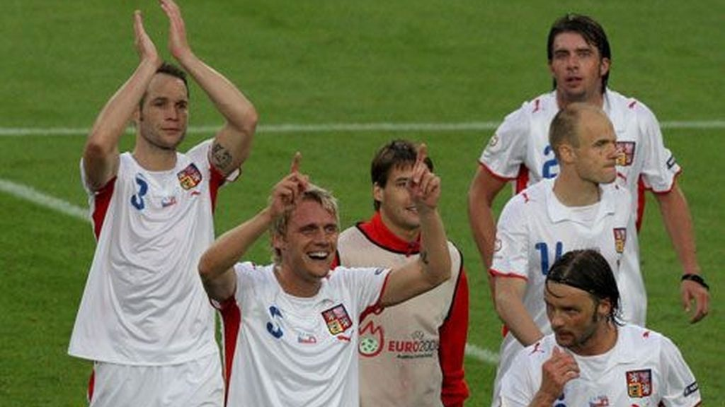 Los jugadores checos celebran la victoria