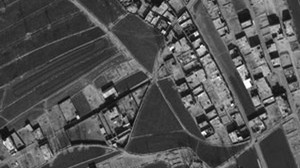 Vista aérea del complejo donde se ocultaba Bin Laden. Foto: GTres