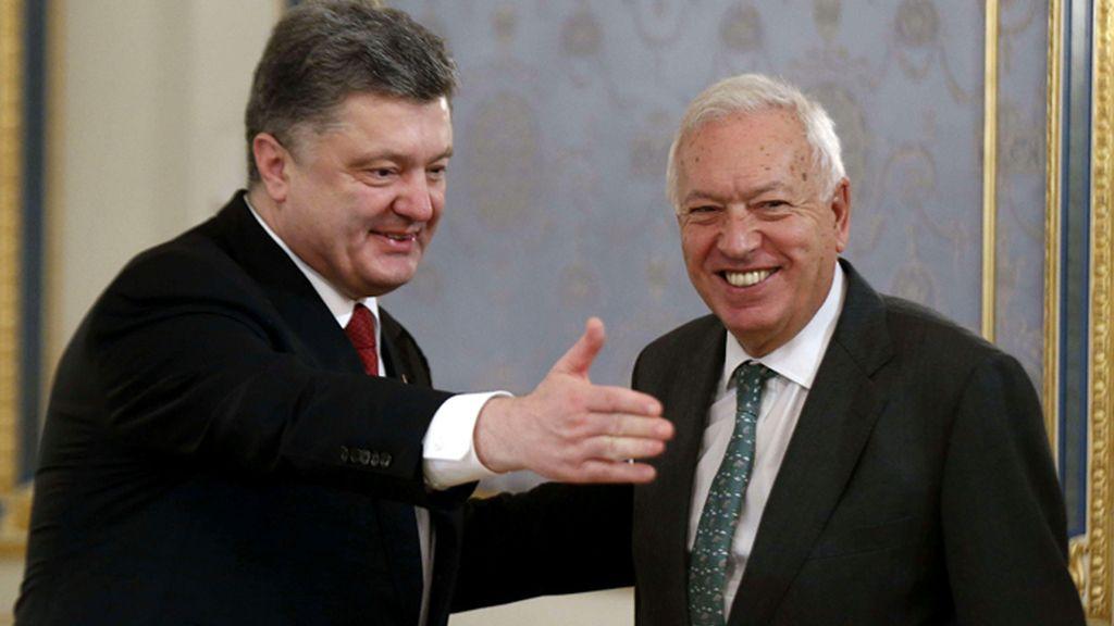 Margallo se reune con el presidente de Ucrania