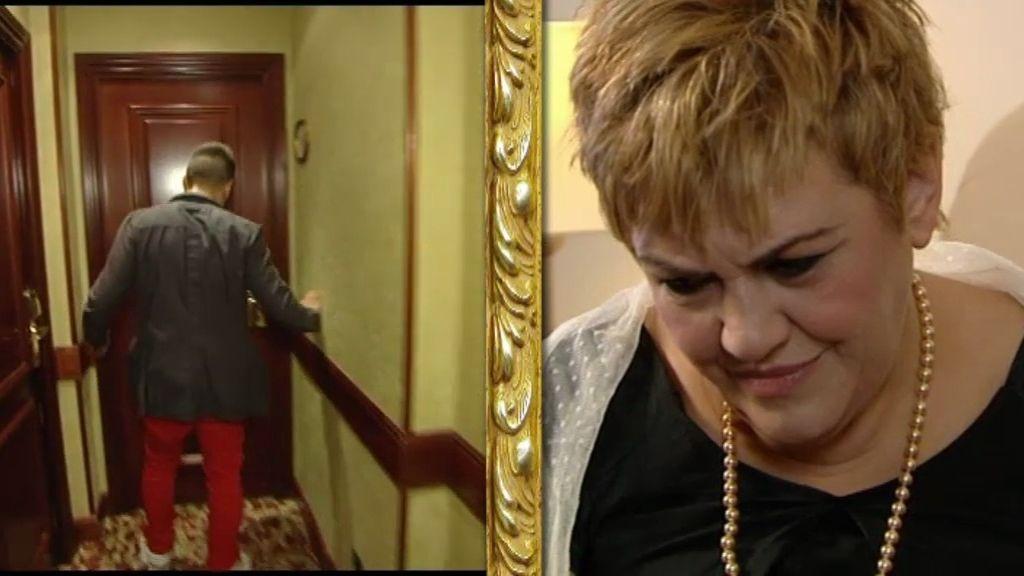 Las caras de sorpresa de Luis Ángel y su madre