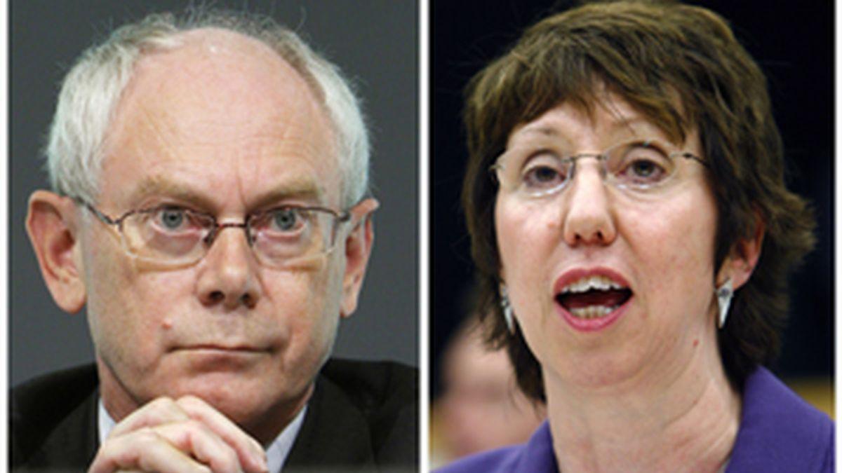 Herman Van Rompuy y Catherine Ashton. Foto: Reuters