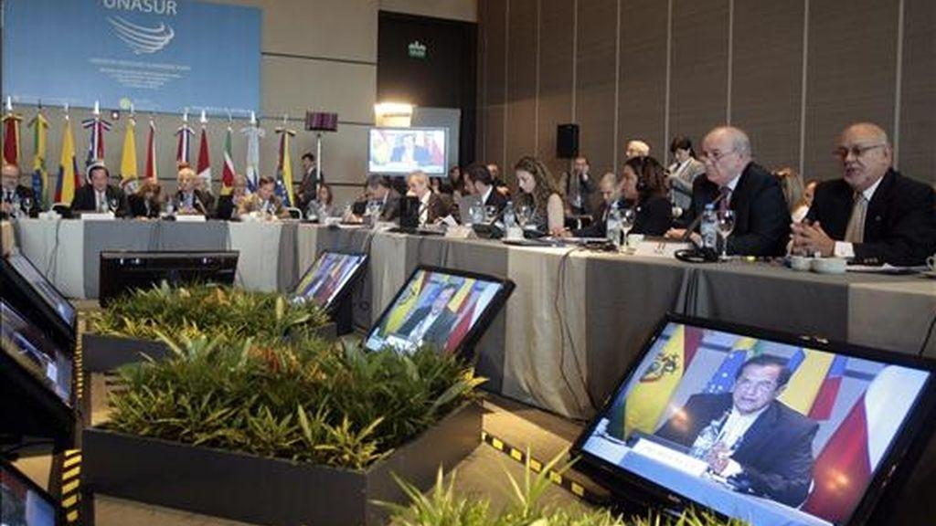 Los delegados de los doce países miembros de la Unasur llegarán a Quito en el transcurso de la mañana, señaló una fuente de la Cancillería ecuatoriana. EFE/Archivo
