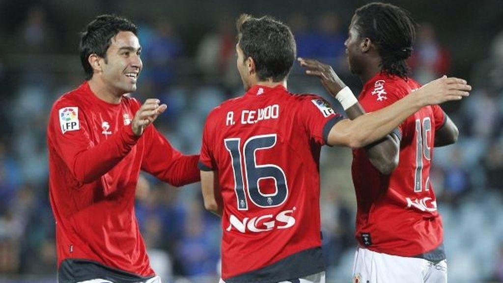 El Getafe logró un empate (2-2) en casa ante Osasuna. Foto: EFE.
