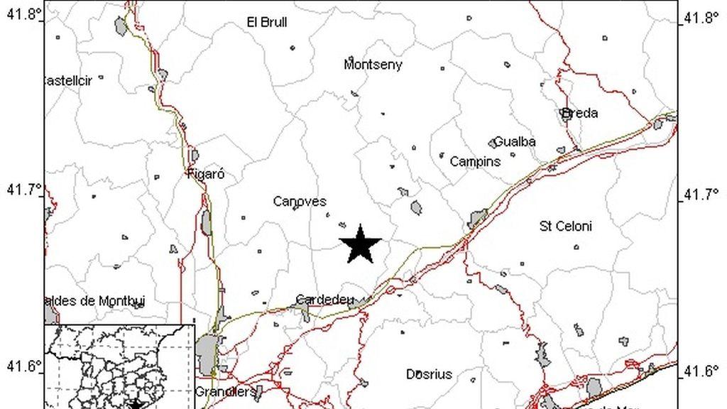 Un terremoto de 2,6 grados afecta la comarca del Vallès Oriental (Barcelona)