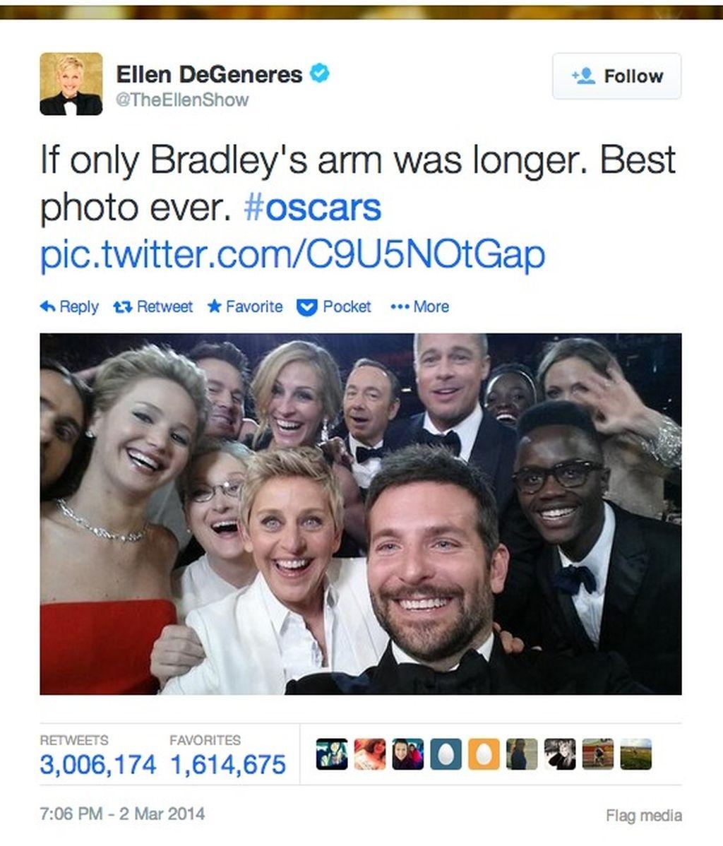 El selfie de los tres millones de retuits