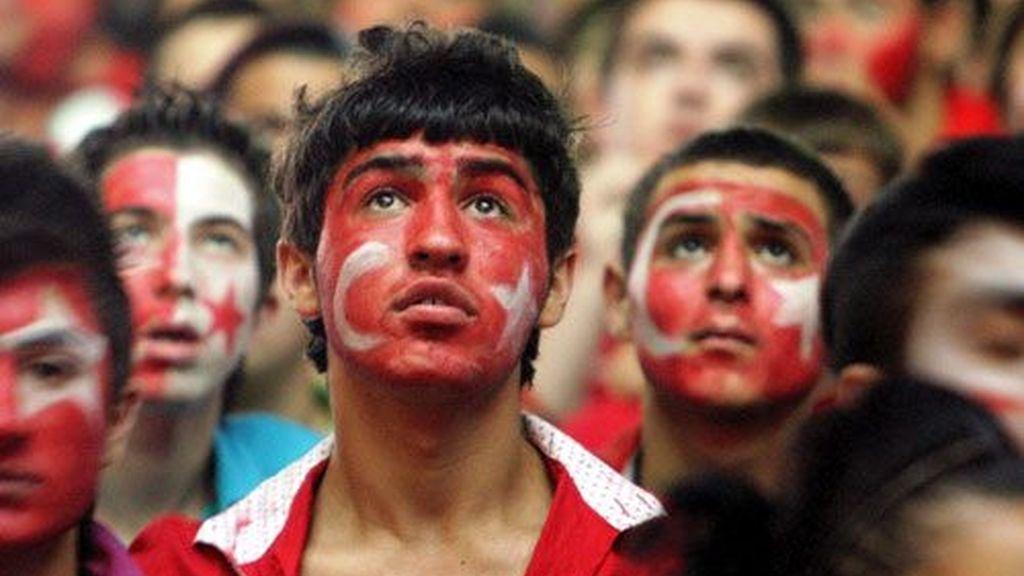 Los aficionados turcos se quedaron con las ganas