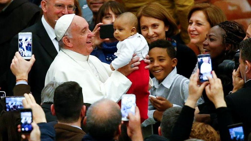 El Papa Francisco en una audiencia con los trabajadores del Vaticano