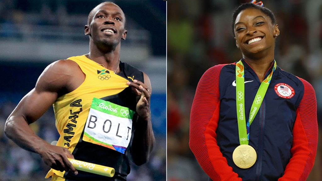 Usain Bolt y Simone Biles, mejores deportistas del año para 'L'Equipe'