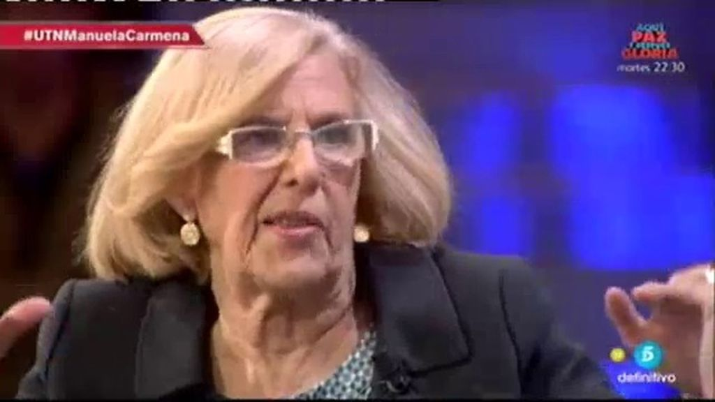 "Manuela Carmena se desvincula de Podemos: ""Soy absolutamente independiente"""