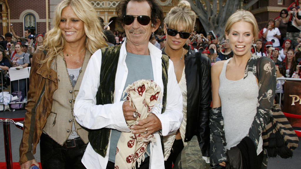Keith Richards y su familia