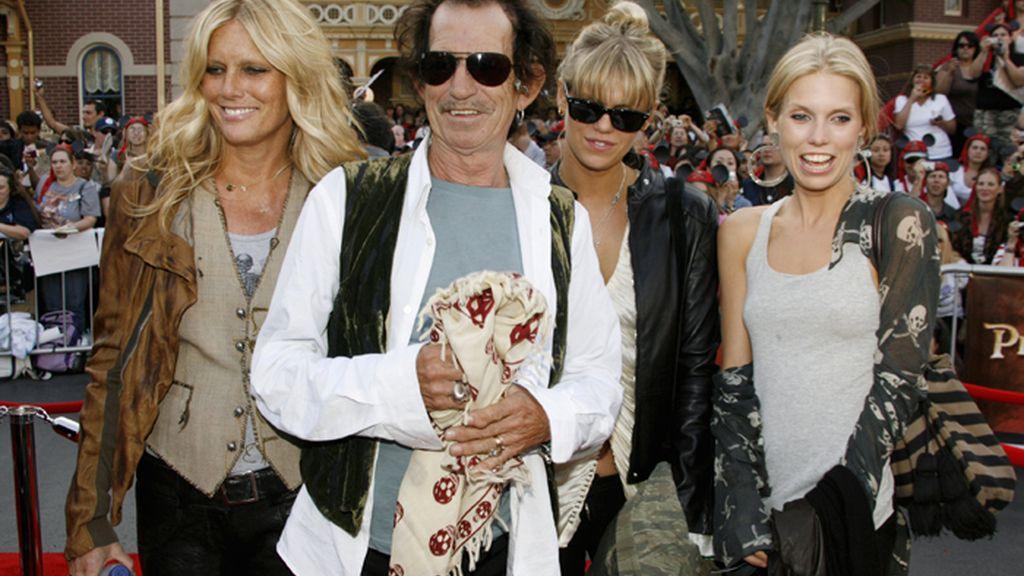 Keith Richards y su familia