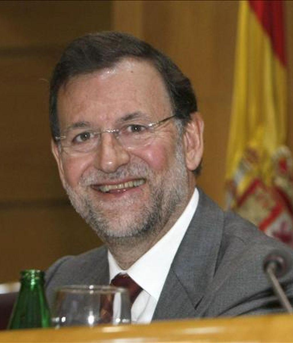 """El presidente del PP, Mariano Rajoy, ha asegurado que la gran preocupación de Trillo es que """"sancionen a sus colaboradores"""". Vídeo: ATLAS"""