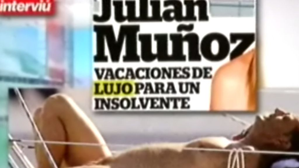 Julián Muñoz, desnudo en Ibiza