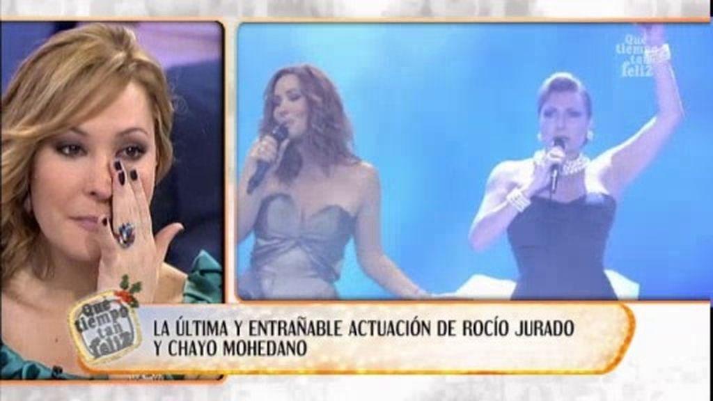 Chayo se emociona al recordar a Rocío Jurado