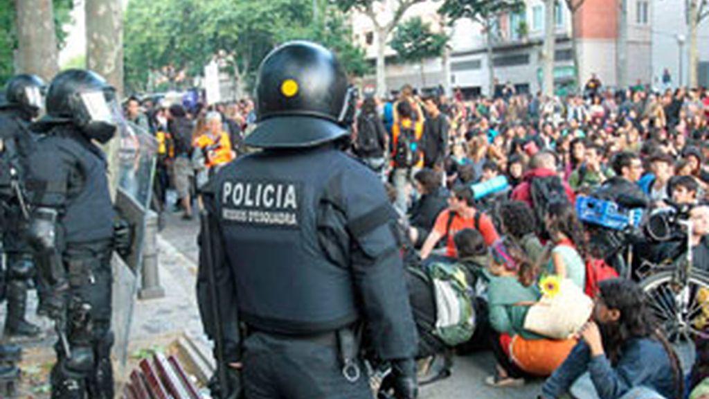 Declaran los imputados por el bloqueo del Parlament. Foto: EFE.