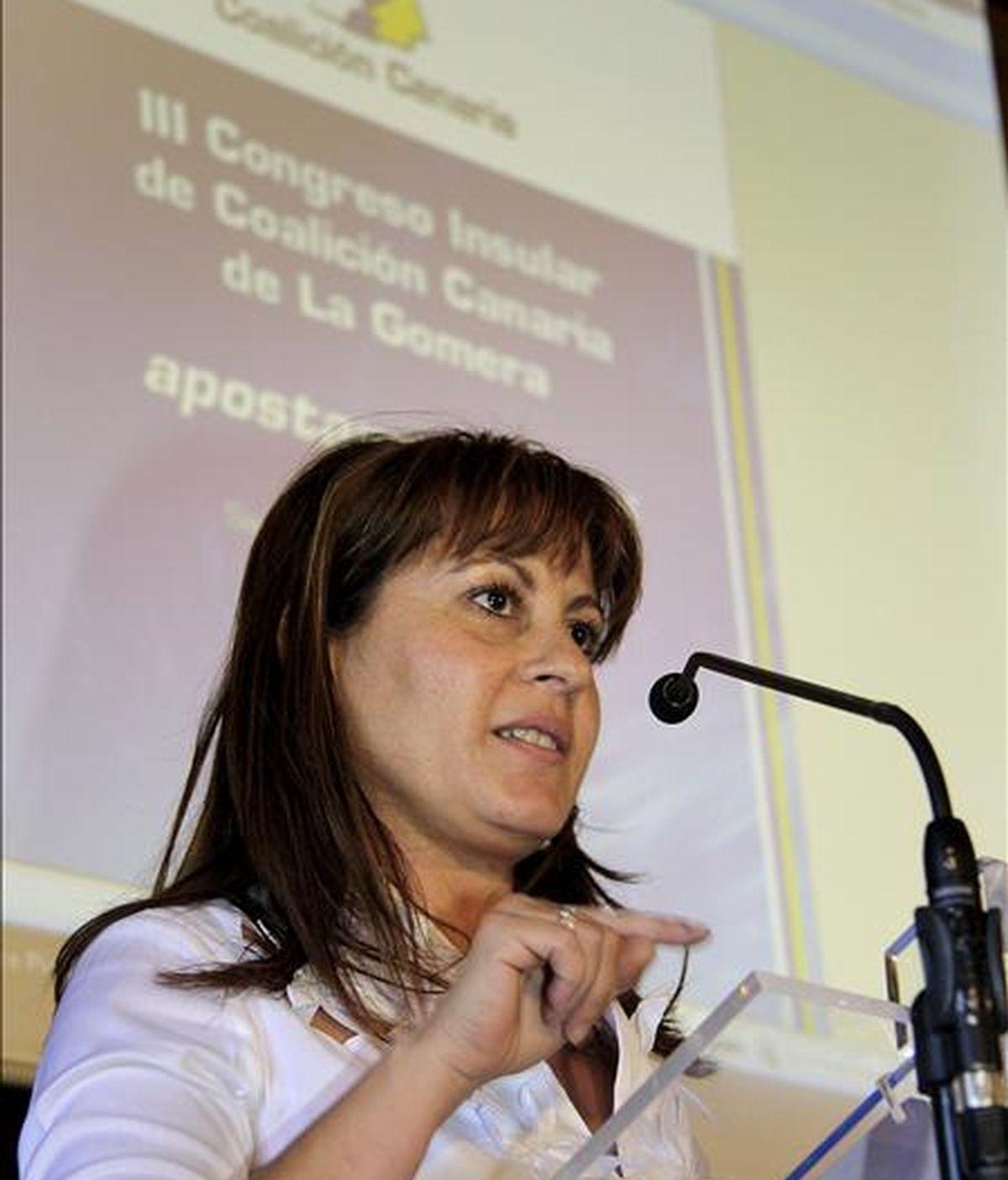 La candidata de Coalición Canaria (CC) al Parlamento europeo Claudina Morales. EFE/Archivo