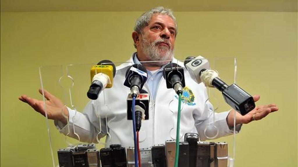 Luiz Lula Da Silva, Presidente de Brasil, ofreció este domingo una rueda de prensa, tras la clausura de la V Cumbre de las Américas que se celebró en Puerto España, capital de Trinidad y Tobago. Lula dijo hoy que la cumbre había marcado una nueva etapa de la relación entre EE.UU. y el resto del continente. EFE