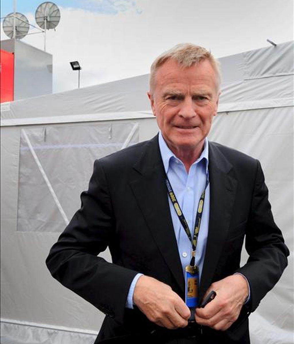 El presidente de la Federación Internacional del Automóvil (FIA), Max Mosley. EFE/Archivo