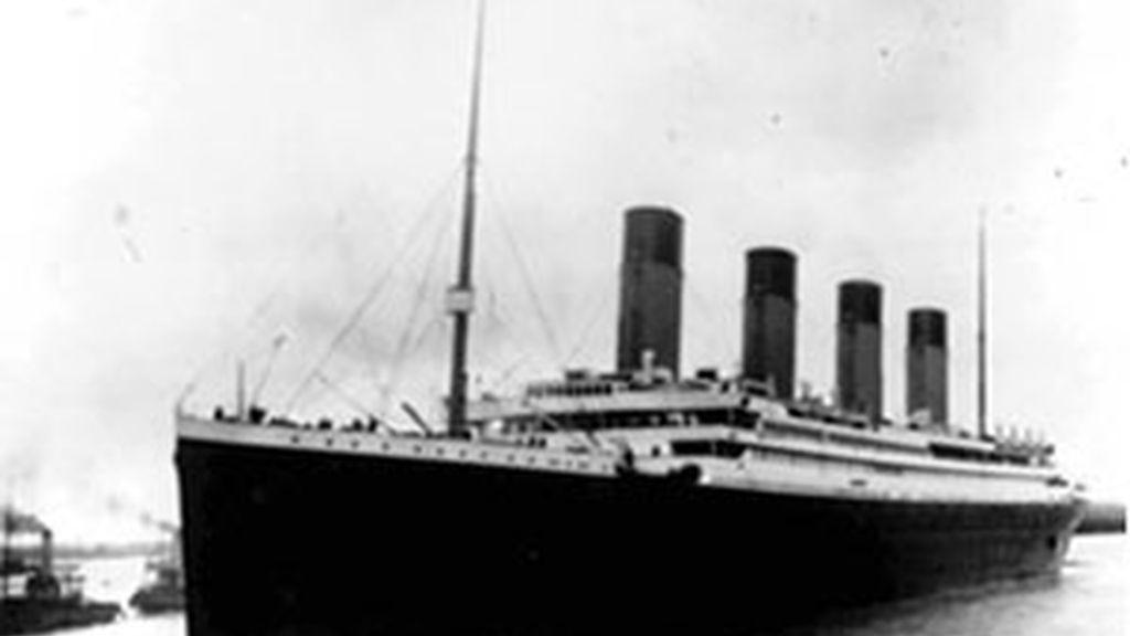 Imagen del Titanic antes de zarpar.