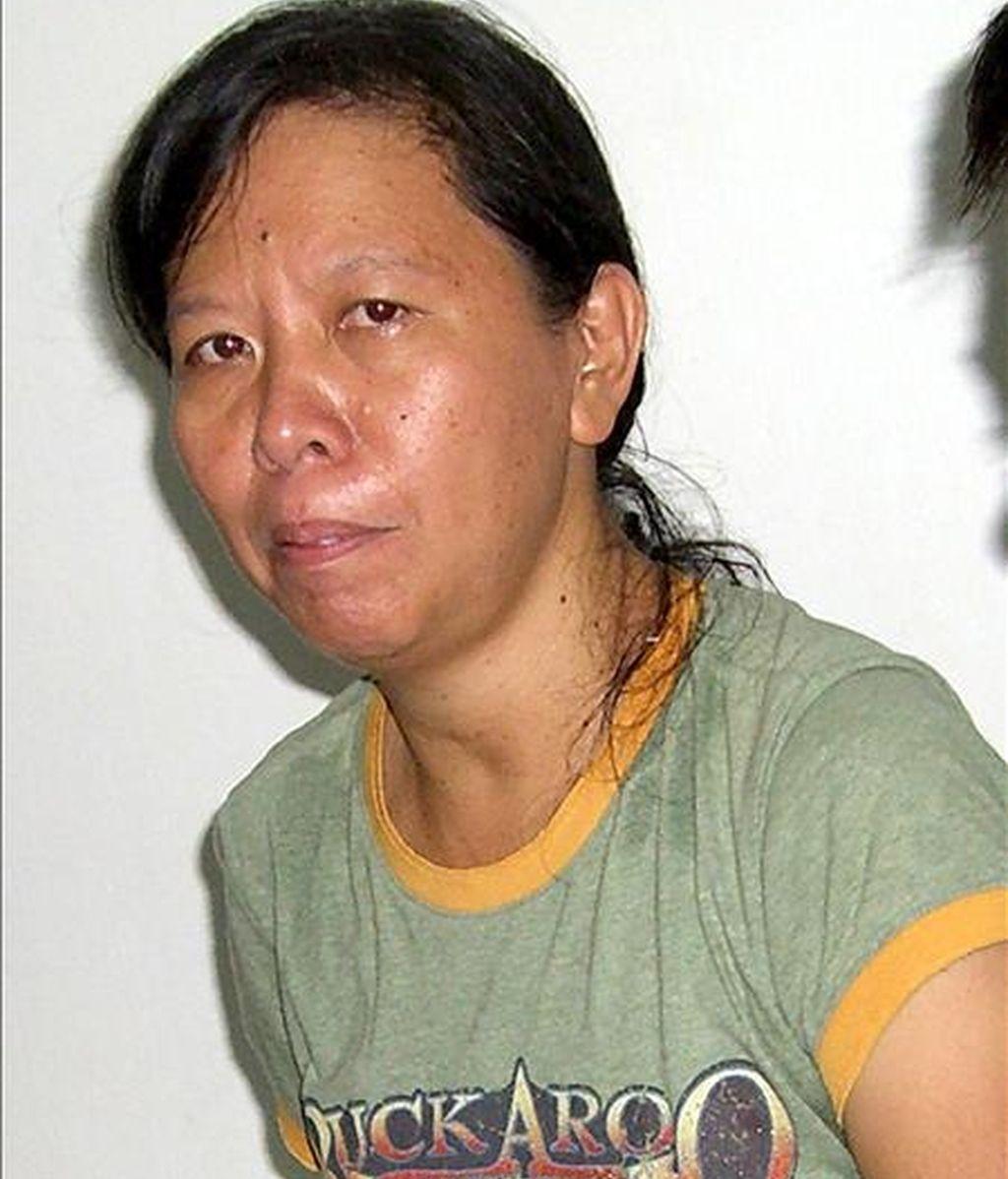 La empleada filipina del Comité Internacional de la Cruz Roja Mary Jean Lacaba, tras ser liberada por el grupo terrorista Abu Sayaf. EFE