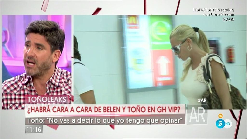 """Toño Sanchís: """"Belén no me va a decir lo que tengo que opinar"""""""