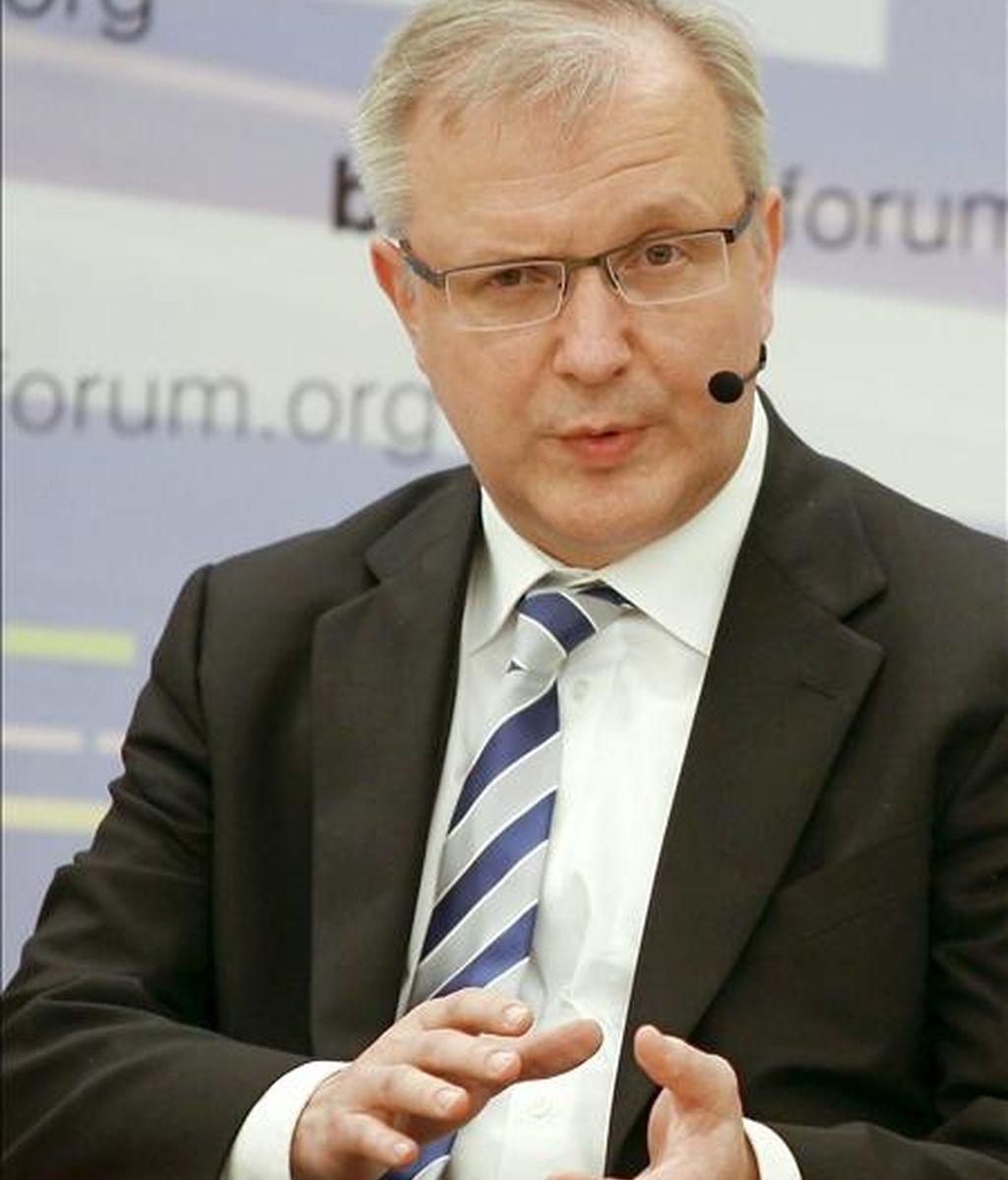 En la imagen, el comisario europeo de Asuntos Económicos, Olli Rehn. EFE/Archivo