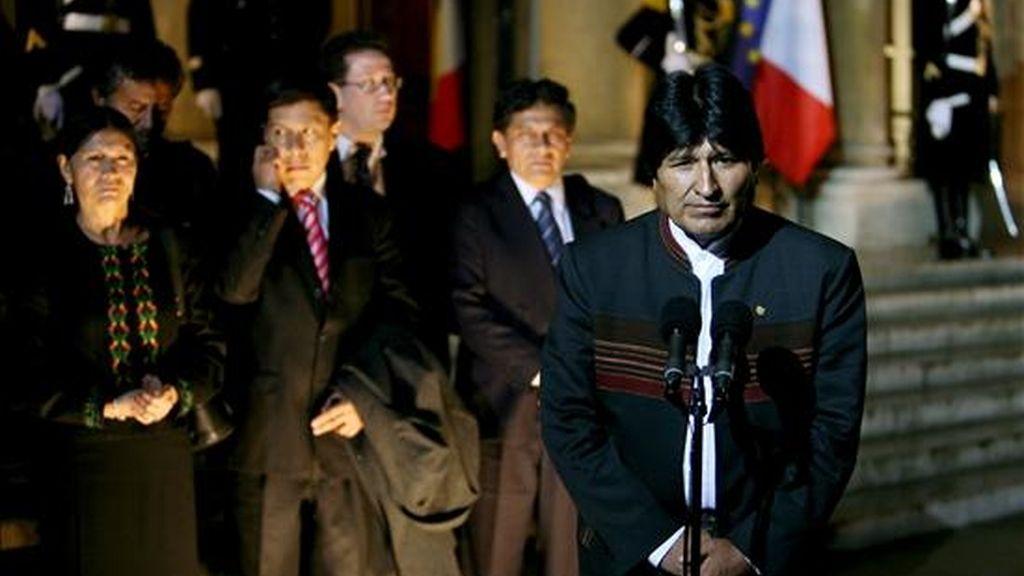 """El presidente Evo Morales llamó a los periodistas """"pollos de granja"""". EFE/Archivo"""