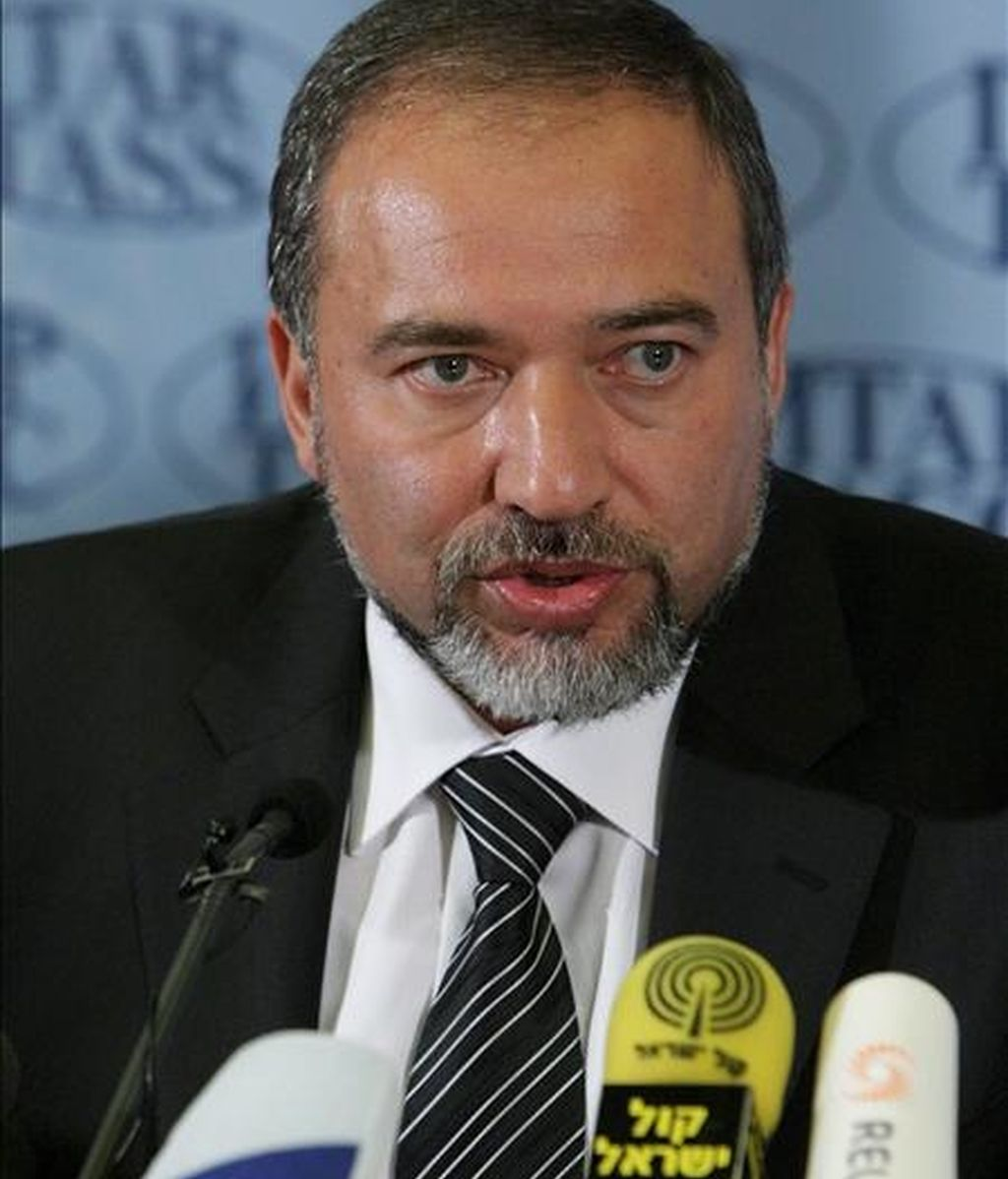 El ministro de Exteriores israelí, Avigdor Liebermann, hoy en Moscú. EFE