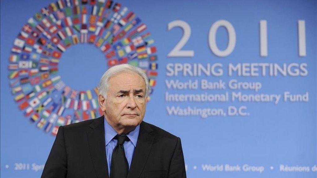 El director gerente del Fondo Monetario Internacional (FMI), Dominique Strauss-Kahn. EFE/Archivo