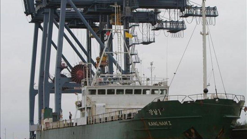 La nave atrajo el interés de Estados Unidos cuando abandonó un puerto norcoreano ayer. EFE/Archivo