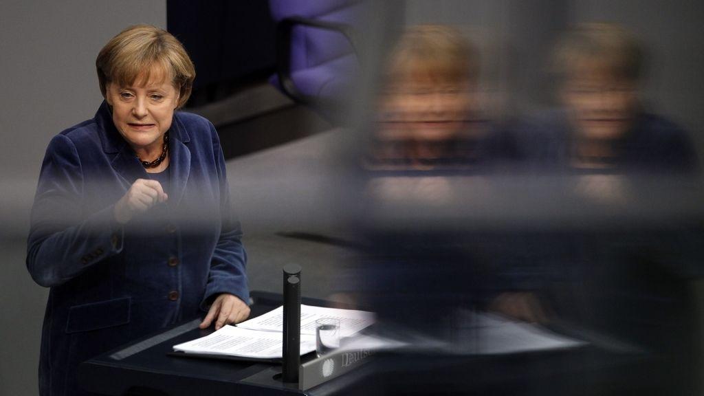 Angela Merkel en la rueda de prensa